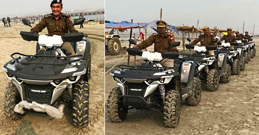 देखिये कुम्भ मेले में गश्त के लिए पुलिस इस्तेमाल कर रही किन ख़ास ATV गाड़ियों को