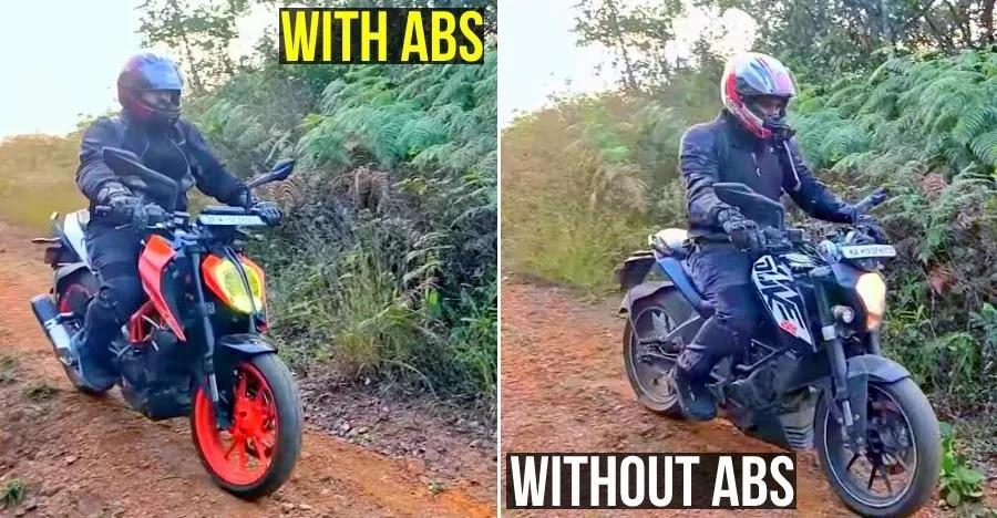 ऑफ-रोडिंग में KTM Dukes दर्शाती हैं ABS और नॉन-ABS बाइक्स के बीच का अंतर