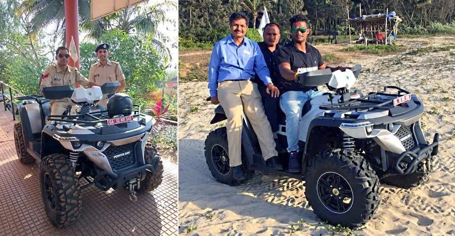 उत्तर प्रदेश के बाद अब गोवा पुलिस करेगी तटों पर Powerland 4X4 ATVs से पट्रोलिंग