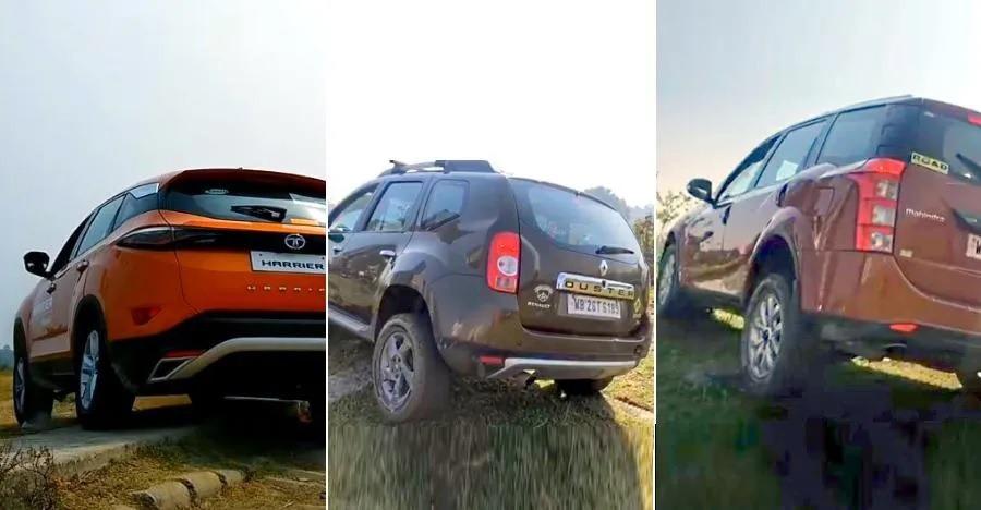 देखिये Tata Harrier, Renault Duster, और Mahindra XUV500 में कौन सी SUV है ऑफ-रोडिंग में बेहतर