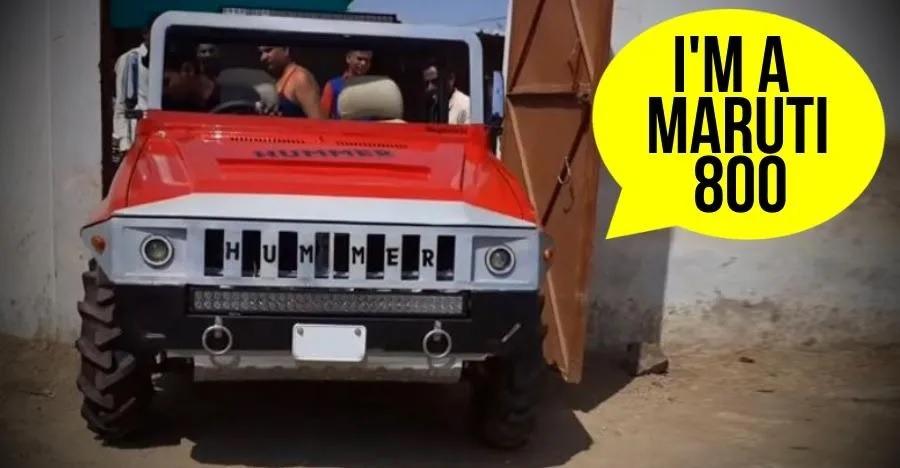 इस Maruti 800 को एक Hummer में मॉडिफाई किया गया है और आप ही बताइए ये कैसी दिख रही है