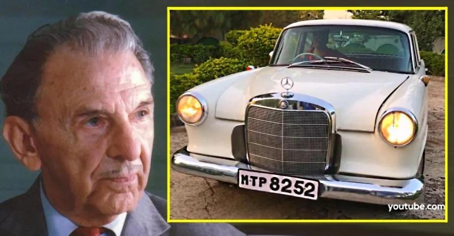 देखिये JRD Tata के अपने Mercedes Benz 190D के दुर्लभ वीडियो