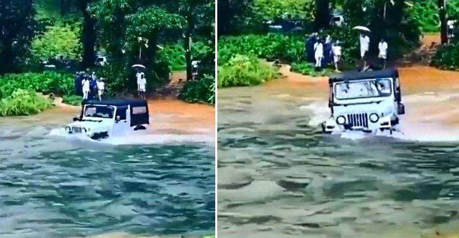 देखिये क्या ये Mahindra Thar इस नदी को पार कर पाएगी?