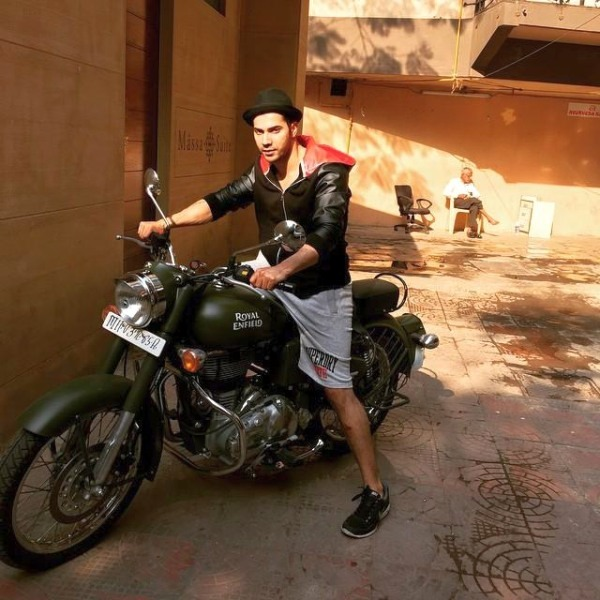 Varun Dhawan Royal Enfield Bullet 500