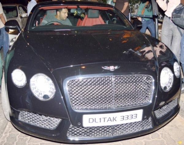 Yuvraj Singh Bentley Continental Flying Spur 4