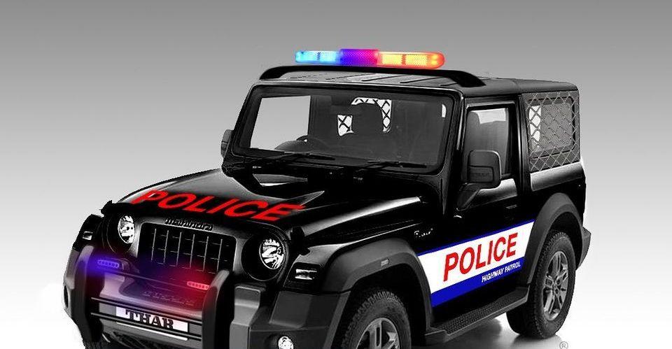 ऑल-न्यू 2020 Mahindra Thar ने Police Jeep के रूप में कल्पना