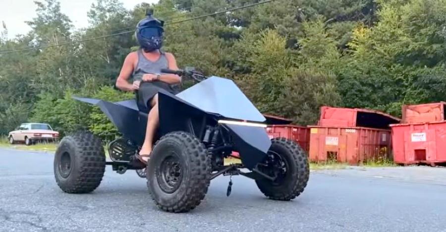 यह Tesla Cyberquad-inspired electric ATV AWESOMENESS है [वीडियो]