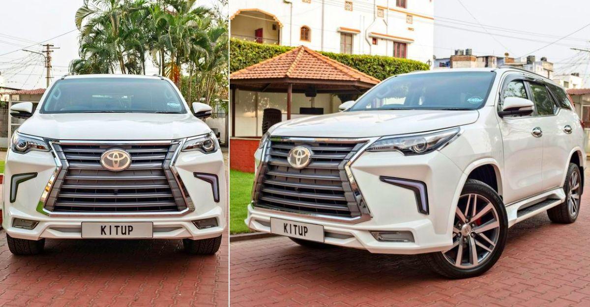Toyota Fortuner SUV Kit Up बॉडी किट के साथ Lexus बनना चाहती है