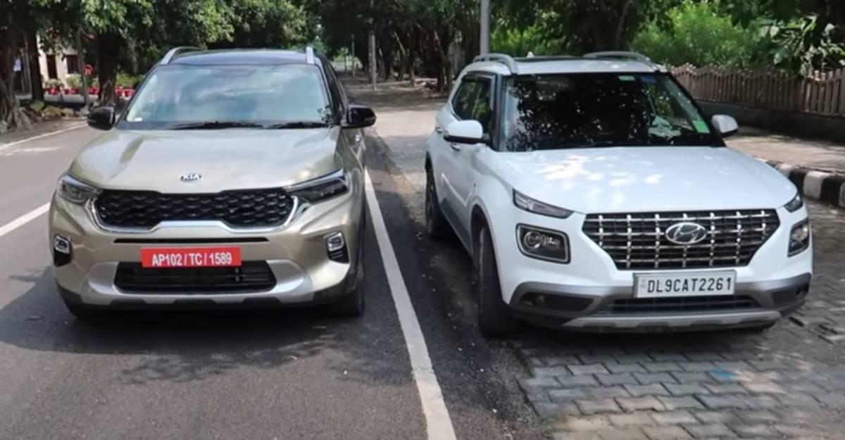 Kia Sonet vs Hyundai Venue: वीडियो पर side by side की तुलना