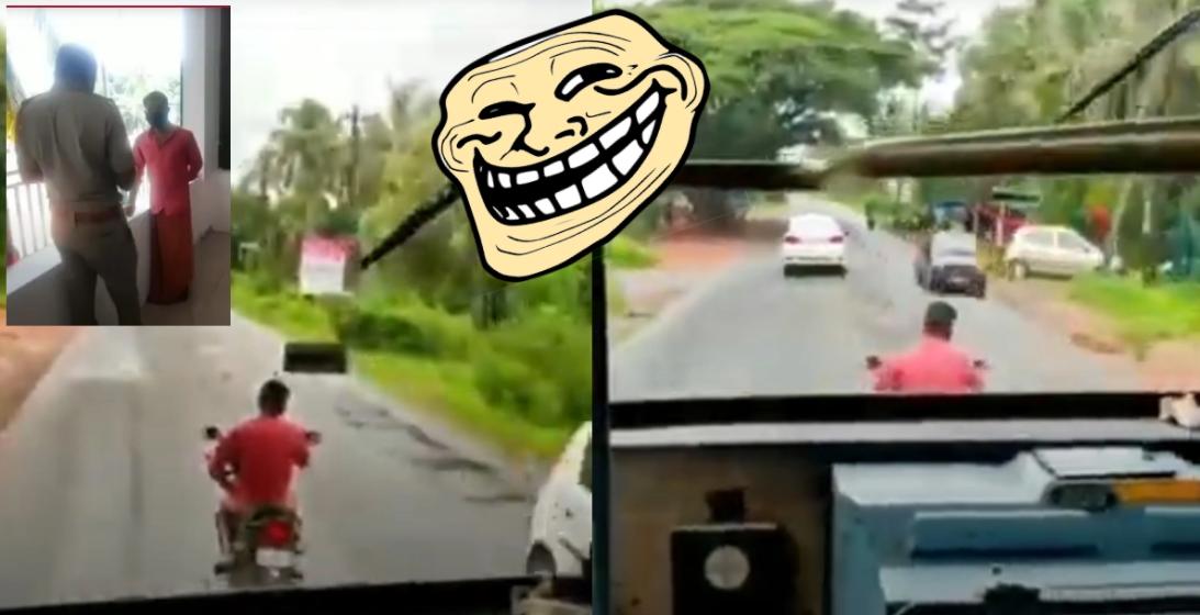 मैन जानबूझकर धीरे-धीरे सवारी करके राज्य परिवहन की बस के रास्ते को अवरुद्ध करता हु : 10,500 रुपये जारी किया गया जुर्माना [वीडियो]