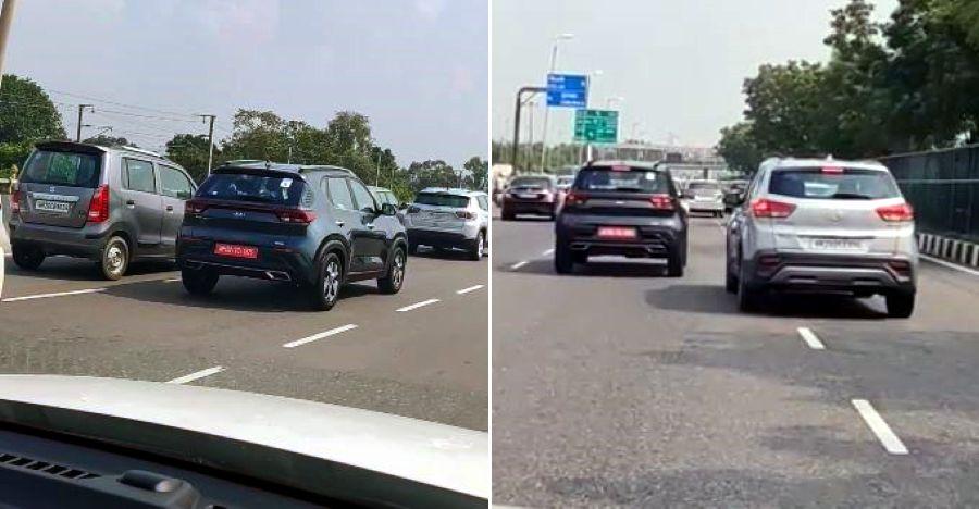 Kia Sonet वीडियो में Maruti WagonR और Hyundai Creta के बगल में दिखी