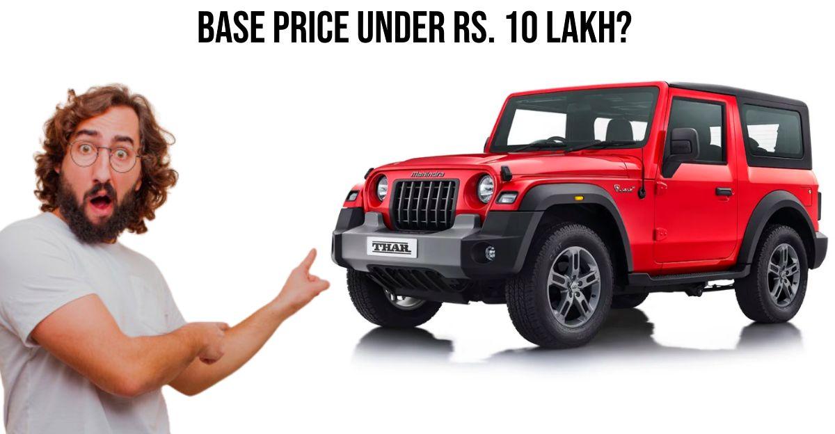 2020 Mahindra Thar: आधिकारिक लॉन्च से पहले लीक हुई कीमतें?