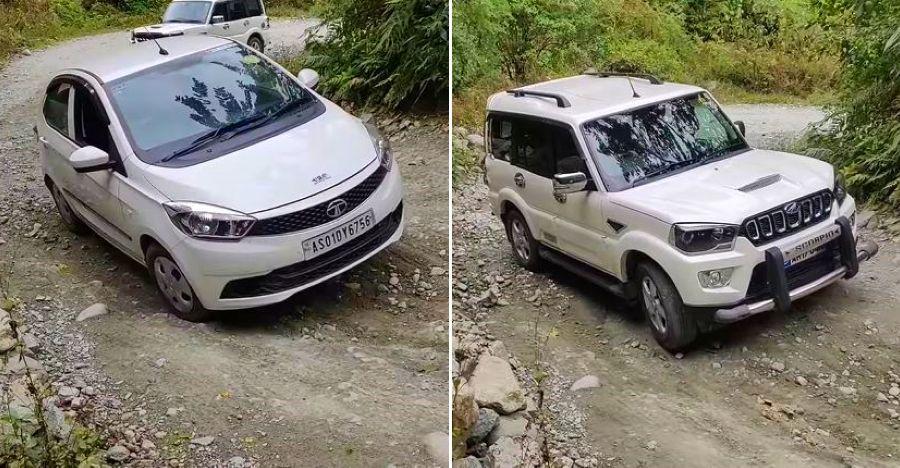 Mahindra Scorpio फस जाता हे जबकि Tata Tiago गुजरती है: हम समझाते हैं! [वीडियो]