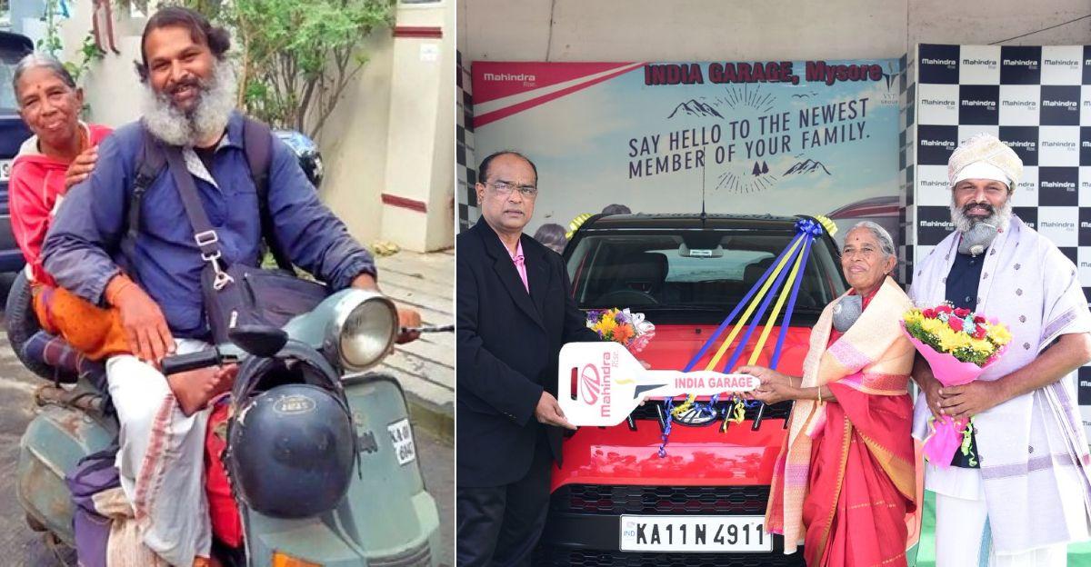 बेटे ने स्कूटर पर ऑल-इंडिया रोडट्रिप पर 70 वर्षीय Mum को लिया: Anand Mahindra ने उन्हें KUV 100 माइक्रो एसयूवी गिफ्ट की