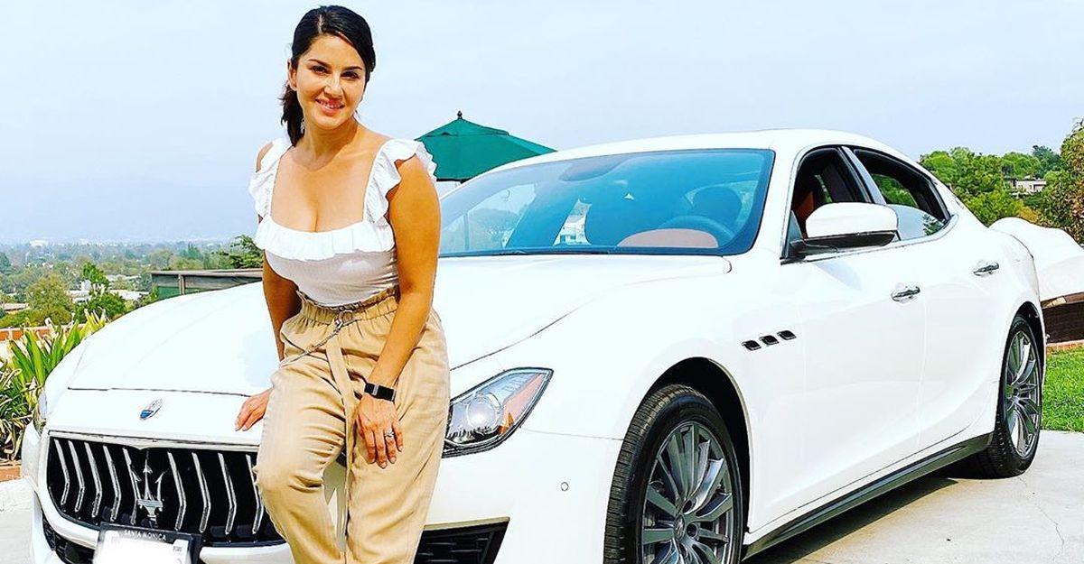 Sunny Leone की नई कार स्वांकी Maserati Ghibli : 3rd Maserati उनकी लग्जरी कार गैराज में है