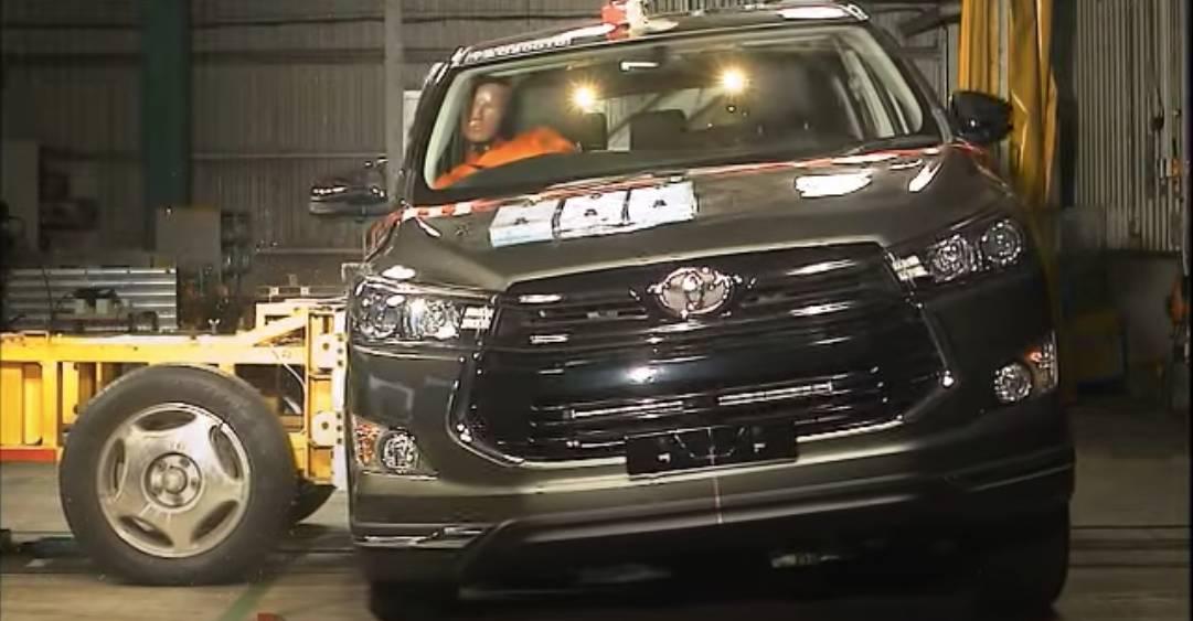 2020 Toyota Innova Crysta को 5 स्टार सुरक्षा NCAP रेटिंग मिली है
