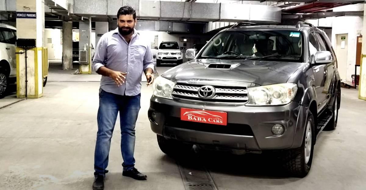 अच्छी तरह से मैनटैनेड used Toyota Fortuner 7.95 लाख  रुपैये में बिक रही है [वीडियो]