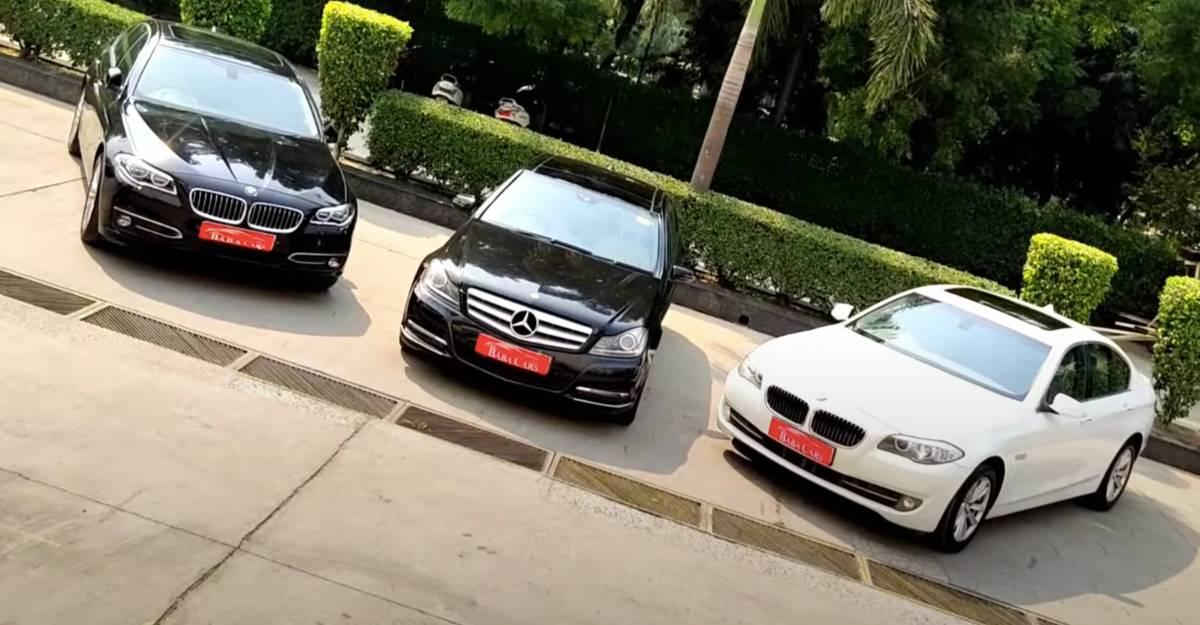 3 शानदार इस्तेमाल की हुई BMW & Mercedes Sedans 10 लाख रुपये से शुरू