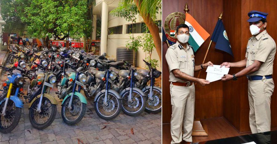 पुलिस कांस्टेबल पुलिस ने अकेले ही चोरों के एक गिरोह को पकड़ा: चोरों द्वारा 26 Royal Enfield को प्रत्येक 30,000 रुपये में बेचता है