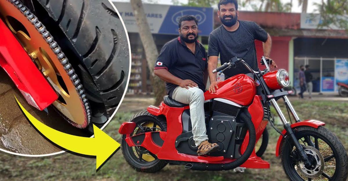 घर में बनी इस इलेक्ट्रिक मोटरसाइकिल को बनाने में 11 महीने लगे [वीडियो]