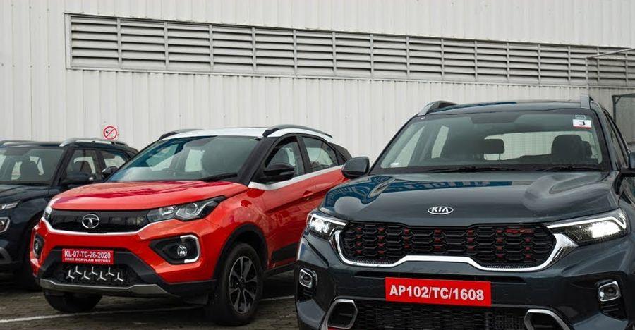 वीडियो पर Tata Nexon & Hyundai Venue की तुलना में Kia Sonet
