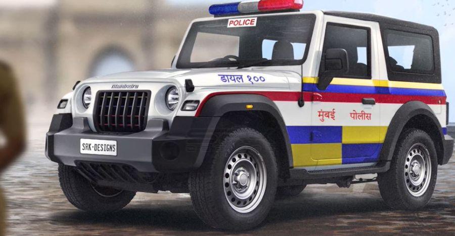 Mumbai Police की कार के रूप में सभी नए Mahindra Thar की कल्पना [Video]