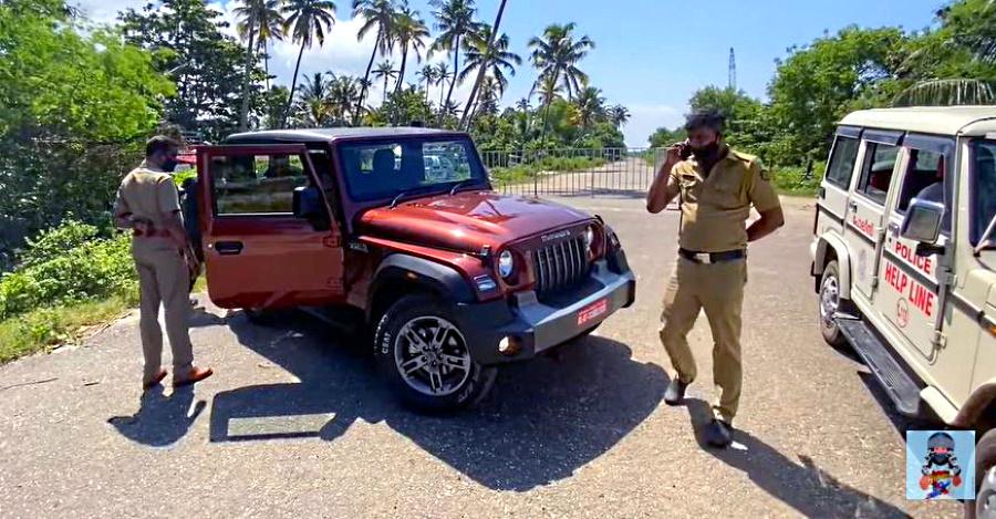 सभी नए Mahindra Thar में भारतीय पुलिस की प्रतिक्रिया [वीडियो]