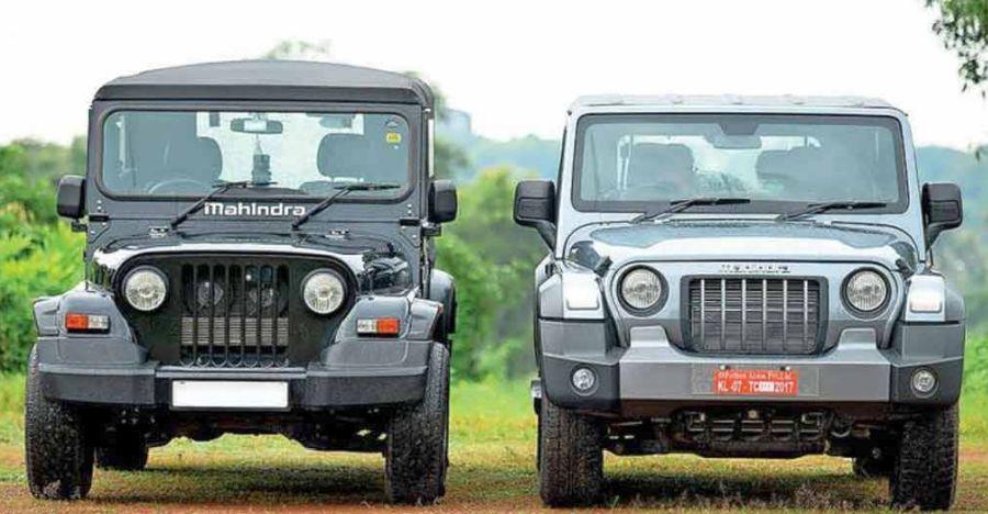 पुराने Mahindra Thar की तुलना में बिलकुल-नई 2020 Thar: साथ साथ