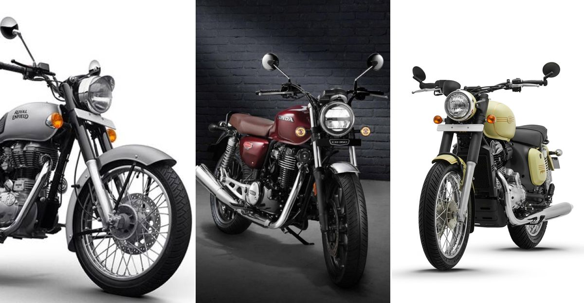 Honda CB350 H'Ness बनाम Royal Enfield Classic 350 बनाम Jawa 42: Tech स्पेक्स की तुलना