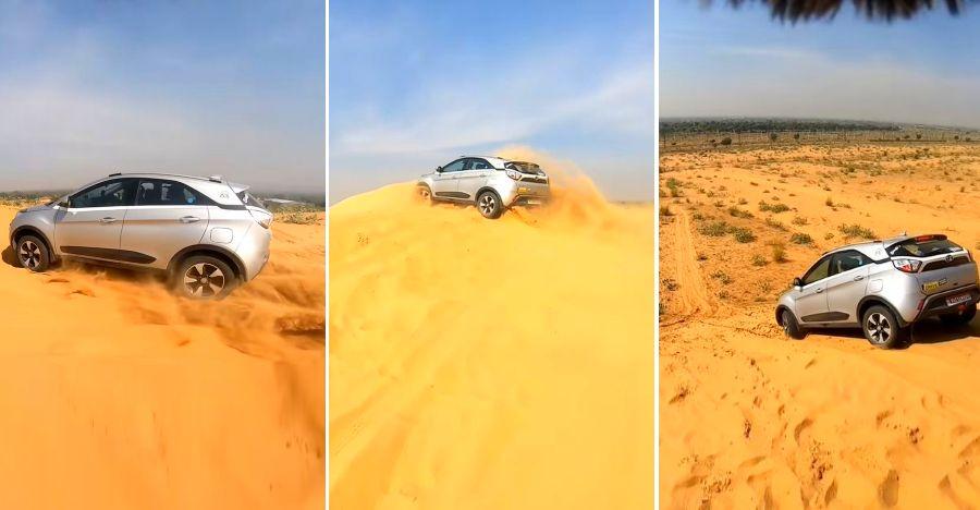 Tata Nexon रेत में धंसने की वजह से चला गया कि यहां तक कि एक Mercedes Benz SUV फंसी हुई है [वीडियो]