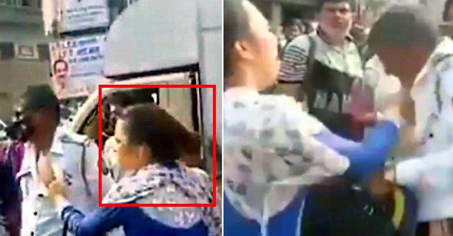 मुंबई में ट्रैफिक सिपाही को थप्पड़ मारने की वजह से महिला को किया गिरफ्तार: गिरफ्तार [वीडियो]