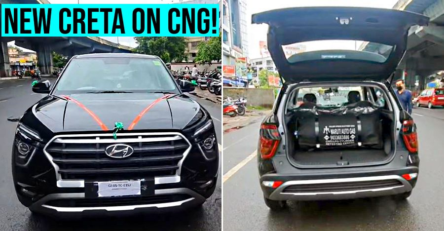 2020 Hyundai Creta आफ्टरमार्केट CNG किट के साथ और सुपर सस्ती Running costs