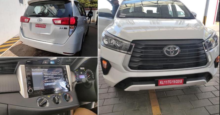 Toyota Innova Facelift आधिकारिक लॉन्च से पहले डीलरशिप पर पहुंच गई