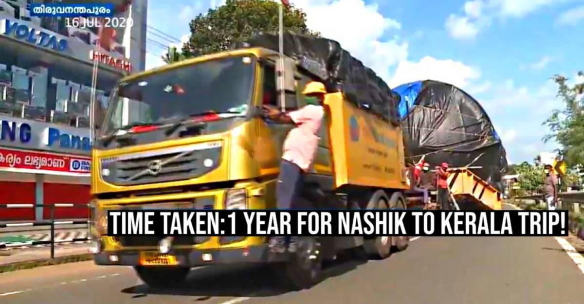 केरल से महाराष्ट्र पहुँचने में इस MASSIVE 74 पहिया ट्रक को 1 साल का समय लगा:  क्यों [वीडियो]