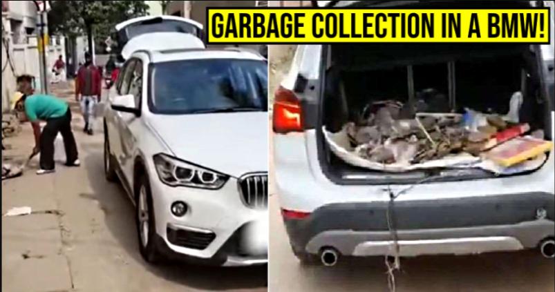 भारत में गुस्से में बीएमडब्ल्यू के मालिक ने विरोध के लिए कचरे का ट्रक के रूप में लक्जरी एसयूवी का उपयोग किया: यहाँ देखे क्यों