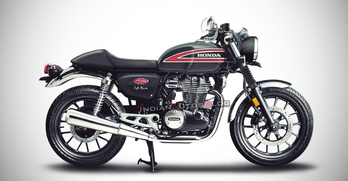 Honda CB350 H'Ness : यह कैफे रेसर के रूप में कैसा दिखेगा