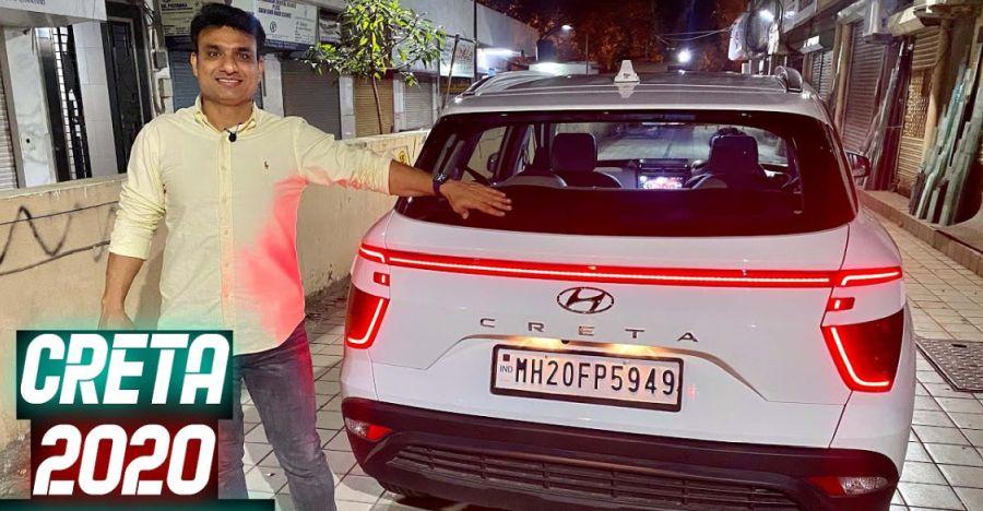 भारत की पहली Hyundai Creta को Audi-स्टाइल मैट्रिक्स LED टेलबार लाइट मिलेगी [वीडियो]