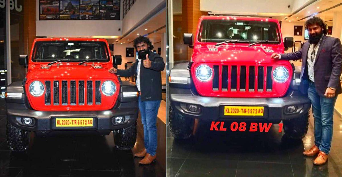 केरल के पहले Jeep Wrangler Rubicon के पास एक नंबर प्लेट है जिसकी कीमत 6.25 लाख रुपये[वीडियो]