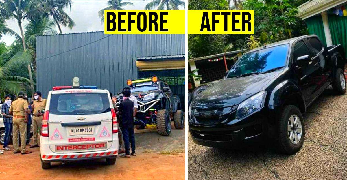 भारत की सबसे HEAVILY modified Isuzu V-Cross के मालिक एमवीडी के 48,000 रुपये के जुर्माना के बाद कार को स्टॉक स्थिति में बदला