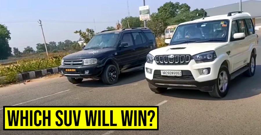 क्लासिक ड्रैग रेस में Mahindra Scorpio बनाम Tata Safari: कौन सी एसयूवी जीतेगी? [वीडियो]