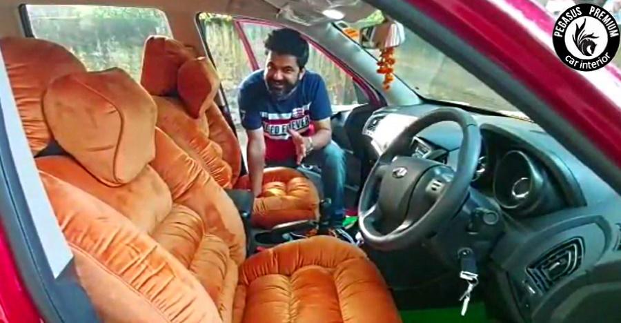 इस Mahindra XUV500 में सीटों के लिए सोफे लगे  हैं [Video]