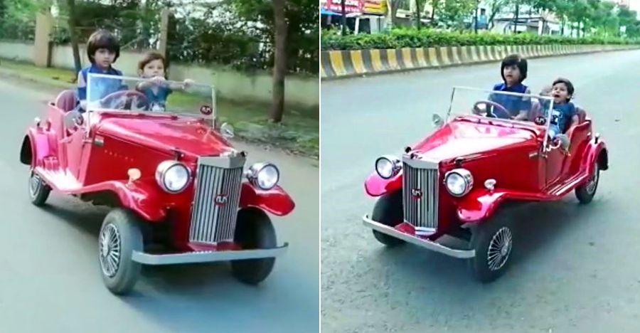 मैकेनिक अपनी छोटी बेटी को आश्चर्यचकित करने के लिए शुरुआत से एक Vintage Car बनाता है