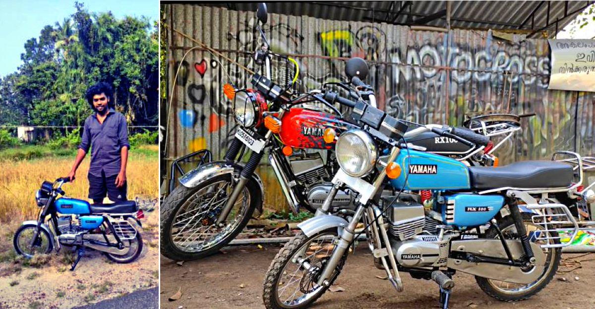 केरल के एक आदमी ने Chainsaw  इंजन का उपयोग करके एक छोटा यामाहा RX100 बनाया  [वीडियो]