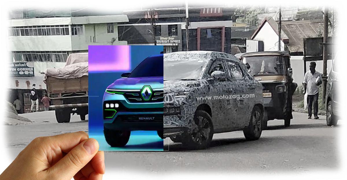 आधिकारिक लॉन्च से पहले भारत में Renault Kiger कॉम्पैक्ट SUV की टेस्टिंग होते हुए देखा गया
