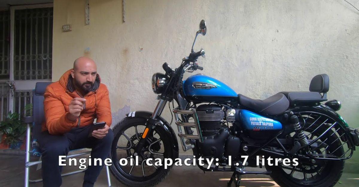 Honda CB350 H'ness की तुलना में Royal Enfield Meteor सर्विस की कीमत है