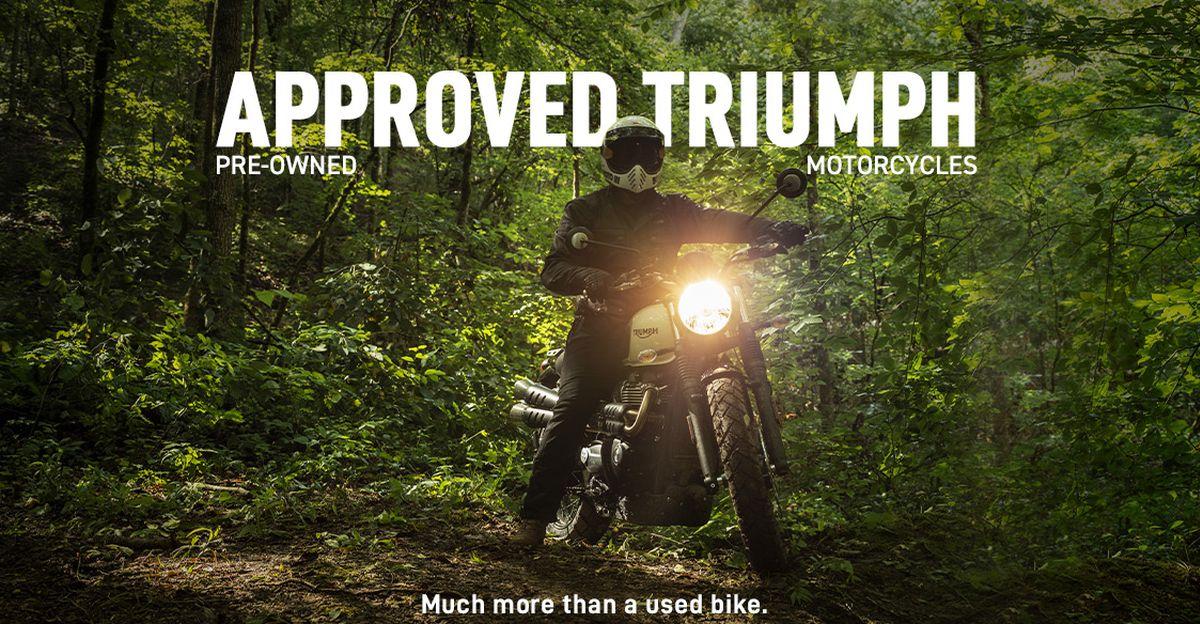 Triumph ने 'Approved Triumph' प्रोग्राम के माध्यम से भारत में pre-owned मोटरसाइकिलों की बिक्री शुरू की