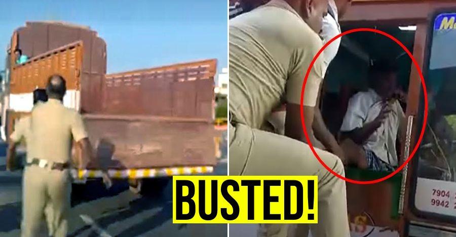 पुलिस ने ट्रक चोर को 60 किलोमीटर तक पीछा करने के बाद पकड़ा: पूरी घटना वीडियो में कैद