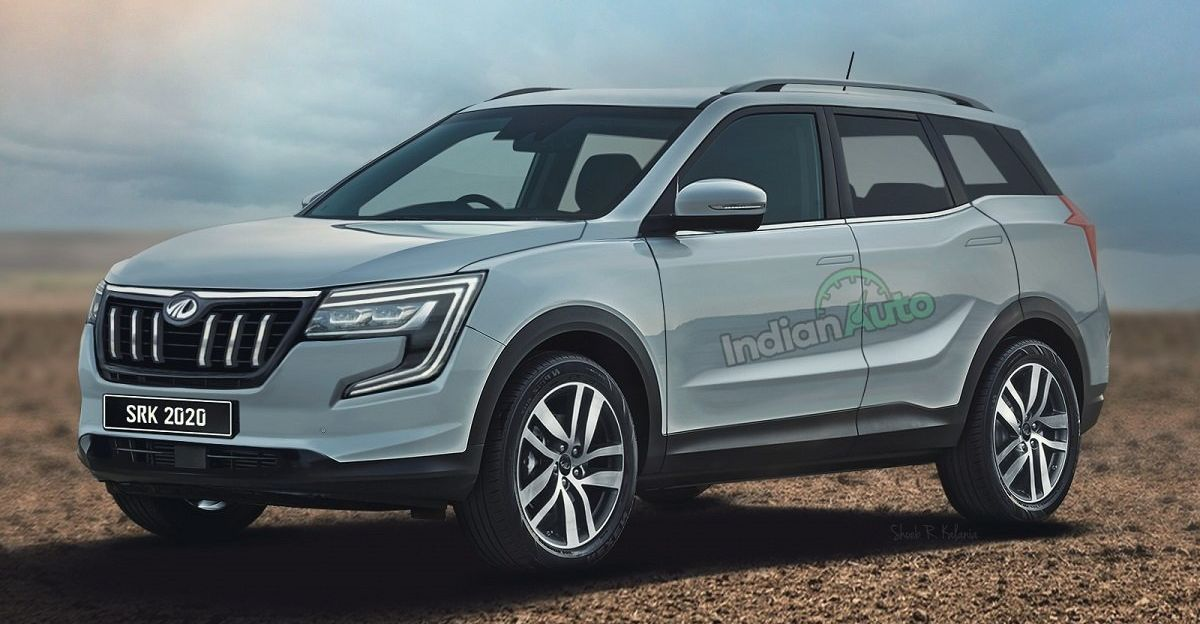 Next-gen 2021 Mahindra XUV500 SUV का नया रेंडर