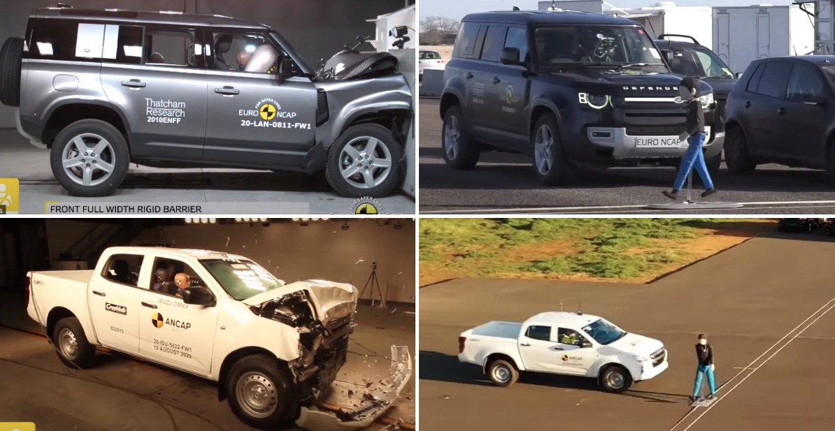 Isuzu D-Max और Land Rover Defender ने Euro NCAP रेटिंग में 5 Stars बनाए