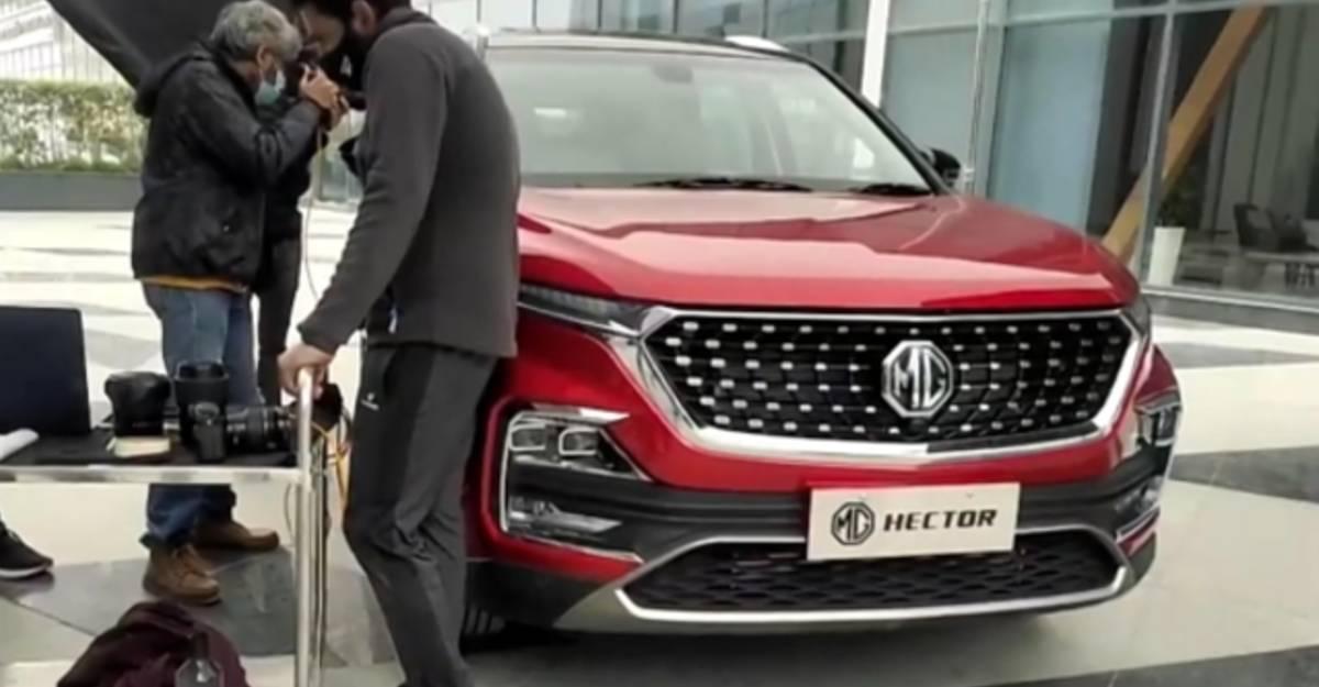 आधिकारिक लॉन्च से पहले 2021 MG Hector फेसलिफ्ट का खुलासा हुआ